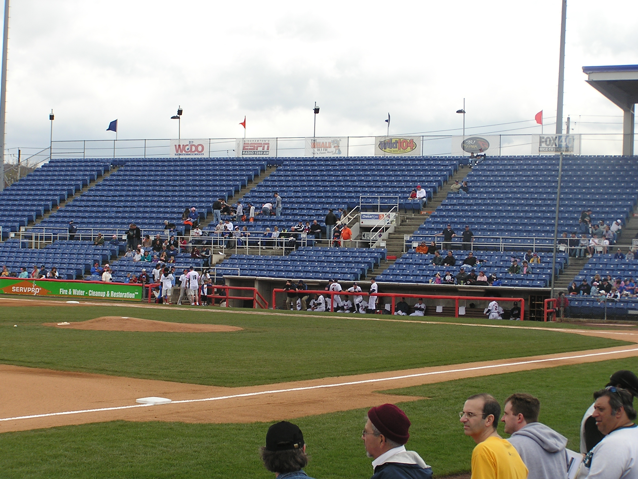 Looking at the First Base stands - NYSEG Stadium