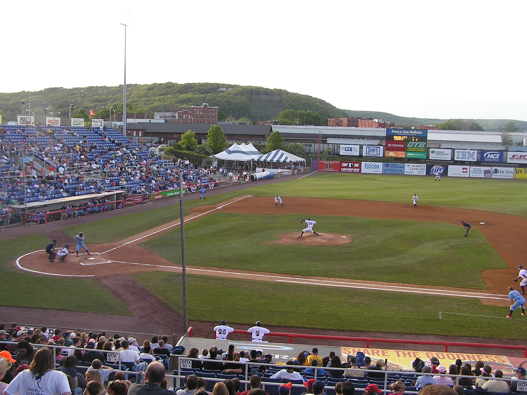 A view from the 1st base side - NYSEG Stadium